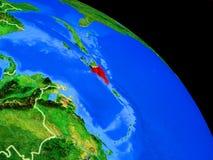 Repubblica dominicana su pianeta Terra royalty illustrazione gratis