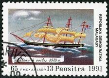 REPUBBLICA MALGASCIA - 1991: votato al 500th anniversario della scoperta dell'America immagine stock