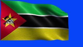 Repubblica Popolare del Mozambico, bandiera del Mozambico - CICLO senza cuciture video d archivio