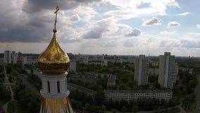 Repubblica sulla Bielorussia - chiesa ortodossa a Minsk video d archivio