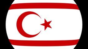 Repubblica turca della transizione nordica 4K della bandiera del Cipro archivi video