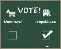 Repubblicano di voto con i simboli di elezione Immagini Stock