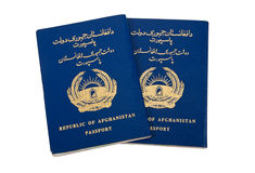 Republic of Afghanistan Passports Stock Image