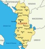 Republic of Albania - vector map Royalty Free Stock Photos