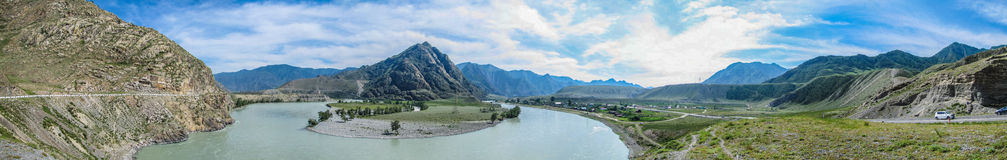 The Republic Of Altai. The photograph was taken when traveling in the Republic of Altai Royalty Free Stock Photo