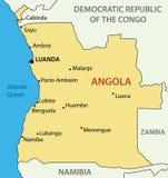 Republic of Angola - map - vector Stock Photo