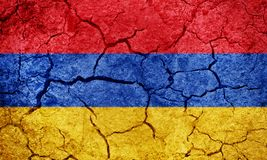Republic of Armenia flag Stock Images