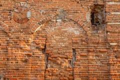 Republic of Belarus, Gomel region, town of Korma. Destroyed Kormyanskaya St. Nicholas Church. Republic of Belarus, Gomel region, town of Korma. Destroyed Stock Photography