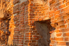 Republic of Belarus, Gomel region, town of Korma. Destroyed Kormyanskaya St. Nicholas Church. Republic of Belarus, Gomel region, town of Korma. Destroyed Royalty Free Stock Images