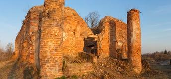 Republic of Belarus, Gomel region, town of Korma. Destroyed Kormyanskaya St. Nicholas Church. Republic of Belarus, Gomel region, town of Korma. Destroyed Stock Image