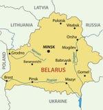 Republic of Belarus - map - vector Stock Images