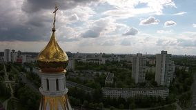 Republic on Belarus - Orthodox Church in Minsk stock video footage