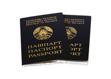 Republic of Belarus a pair of passports stock photography