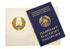 Republic of Belarus Passport. On white background Royalty Free Stock Images