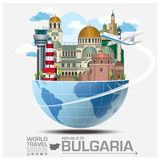Republic Of Bulgaria Landmark Global Travel And Journey Infograp Royalty Free Stock Photography