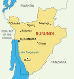 Republic of Burundi - vector map Royalty Free Stock Photography