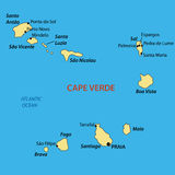 Republic of Cabo Verde - vector map Royalty Free Stock Photography