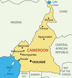 Republic of Cameroon - map - vector Stock Photography
