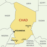 Republic of Chad - vector map Stock Image