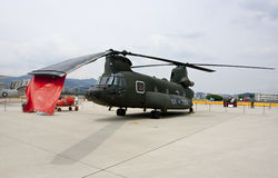 Republic of China Army CH-47D transport helicopter Royalty Free Stock Photos