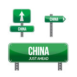 Republic of china, Country road sign Royalty Free Stock Photo