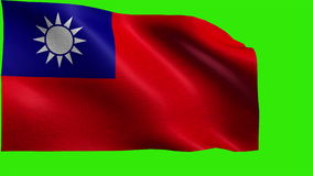 Republic of China, Flag of Taiwan - LOOP Royalty Free Stock Photography