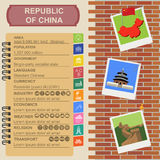 Republic of China  infographics, statistical data, sights Stock Photos