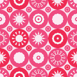 Republic China of Taiwan circle symmetry seamless pattern. This illustration is drawing and design Republic of China Taiwan circle symmetry in pink and red color royalty free illustration