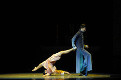 The Republic of China-The third act of dance drama-Shawan events of the past. Guangdong Shawan Town is the hometown of ballet music, the past focuses on the Royalty Free Stock Photography