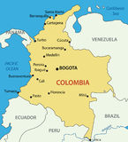 Republic of Colombia - vector map Stock Photo