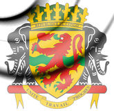 Republic of the Congo coat of arms. Stock Image
