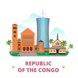 Republic of the Congo country design template Flat Royalty Free Stock Images