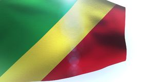 Republic of the Congo Flag waving in wind. Video stock video
