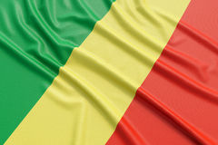 Republic of the Congo flag Royalty Free Stock Image