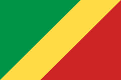 Republic of the Congo national current flag Stock Photo
