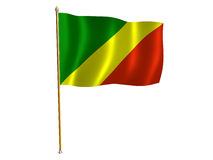Republic of the Congo silk flag Stock Images