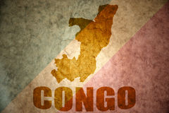 Republic of the congo vintage map Stock Image