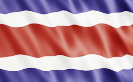 Republic of Costa Rica Flag Stock Image