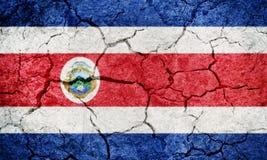 Republic of Costa Rica flag Stock Photography