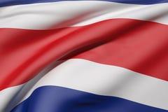 Republic of Costa Rica flag waving Royalty Free Stock Photo