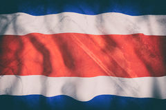 Republic of Costa Rica flag waving Royalty Free Stock Images