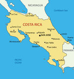 Republic of Costa Rica - map Royalty Free Stock Image