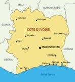 Republic of Cote d Ivoire - map - vector Stock Photos