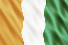 Republic of Cote dIvoire Flag Stock Images