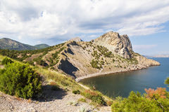 Republic of Crimea,  Blue  Bay and Mount Koba-Kaya Stock Photo