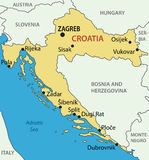 Republic of Croatia - vector map Stock Photos