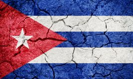Republic of Cuba flag Royalty Free Stock Images