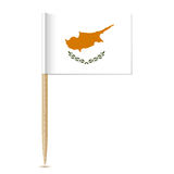 The Republic of Cyprus flag toothpick eps10 Stock Photography
