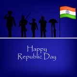 Republic Day background. Illustration of elements for Republic Day Stock Images