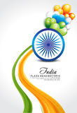 Republic day background with wave Royalty Free Stock Photography